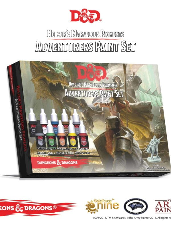 Adventurers Paint Set - Nolzur's Marvelous Pigments - Dungeons and Dragons