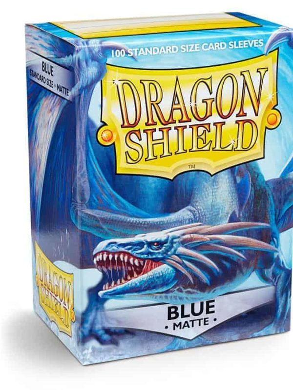 Blue matte - dragon shield kortlommer 100 stk.