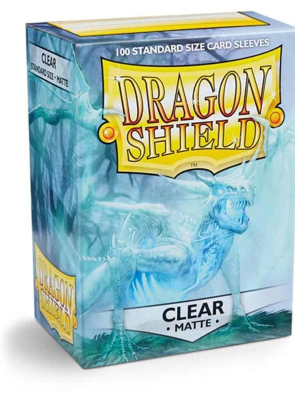 Clear matte - klare dragon shield kortlommer 100 stk.