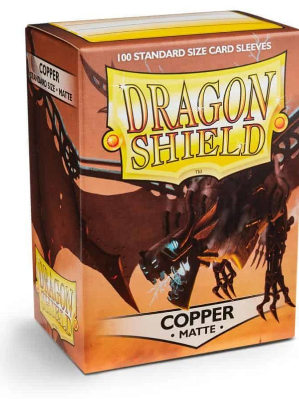Copper matte - kobberfarvede dragon shield kortlommer 100 stk.