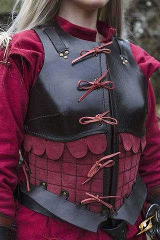 Female Leather Armour brown/red - str S