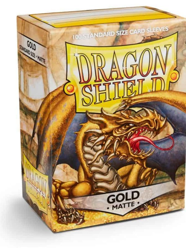 Gold matte - dragon shield kortlommer 100 stk.