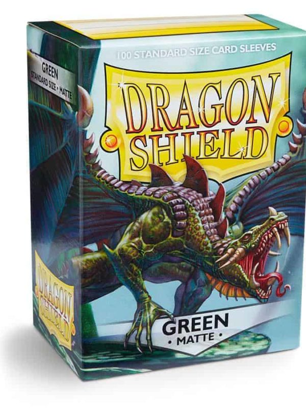 Green matte - dragon shield kortlommer 100 stk.