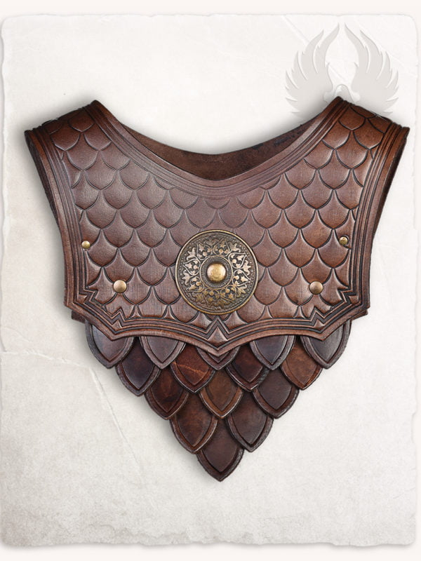 Hector Scale Gorget -  brown