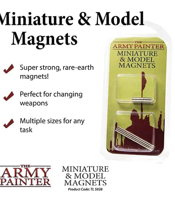 Miniature and Model Magnets - magneter til figursamling fra the army painter