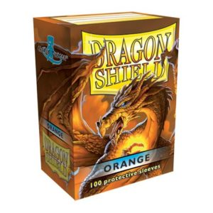 Orange matte - orange kortlommer fra dragon shield (100 stk.)