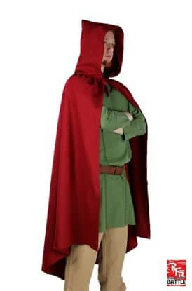 Ready for battle cape - dark red - 8 -10 years