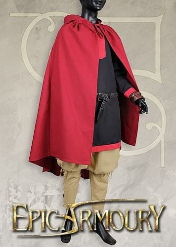 Ready for battle cape - dark red - str. xl