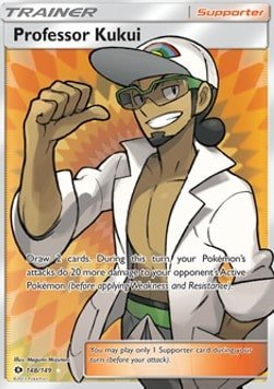 Pokémonkort: professor kukui (version 2)